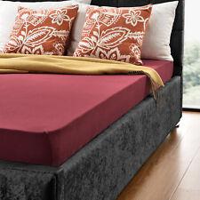 neu.haus® Drap-housse 140-160 x 200 cm bordeaux 100% coton