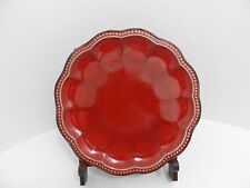 """Roscher & Co HOBNAIL RED 11"""" Round Scalloped Dinner Plate - VGC"""