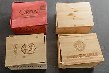 """Set aus 4 Original 6er Weinkisten Holzkisten """"Toskana I"""" (ohne Flaschen)"""