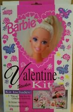 "1992 Barbie ""Barbie Valentine Sticker Kit"" Original Package Unused New"