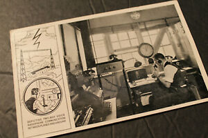 Postcard: IN FLIGHT WITH UNITED AIR LINES.  Photo of Radio Commincation.  1930's
