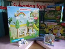 SYLVANIAN FAMILIES FLAIR JOB LOT RAINBOW NURSERY, BUS, SAND PIT & FIGURES