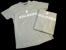 Pair New (L) #HALAMADRID Real Madrid Gray Soccer Shirt Harvest Sports La Liga
