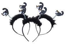 Halloween 6 x Fascia per capelli Head Band Deeley Boppers STREGHE Gatti Costume