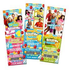 THE FRESH BEAT BAND PARTY BIRTHDAY INVITATION TICKET CARDS CUSTOM INVITES f3