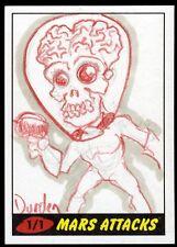 JASON DURDEN 2012 Topps Mars Attack Heritage Sketch Card 1/1