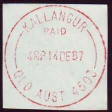 "QUEENSLAND POSTMARK ""KALLANGUR - PAID"" CDS IN RED"