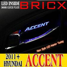 LED INTERIOR CAR DOOR HANDLE SIDE TRIM (4pcs) FOR 2011+ HYUNDAI ACCENT