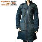 Manteau velours FREEMAN bleu indigo délavé femme taille S