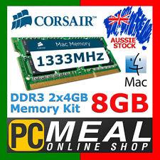 Corsair Mac Memory 8GB RAM DDR3 SODIMM 2 x 4GB 1333MHz Apple MacBook Pro iMac C9