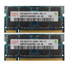 New Hynix 8GB 2X4GB DDR2 PC2-6400 800MHz 200pin SO-dimm Laptop Memory RAM