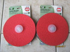 "New Shop Smith 7"" Ceramic Fiber Discs for Angle Grinders P50 2 Pack 12650 Sandin"