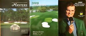 2008 Masters Media Guide Journal (Program) Players Guide & Sunday Pairings Sheet