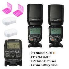 2pcs YONGNUO YN600EX-RT II Flash Speedlite+YN-E3-RT for Canon System ST-E3-RT
