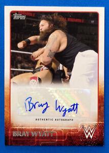 2015 Topps WWE Bray Wyatt Autograph Card