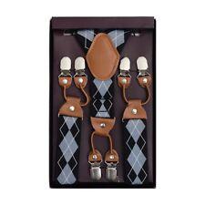 Plaid Jacquard Suspenders Top Quality Man Female Braces Poise Elastic Braces