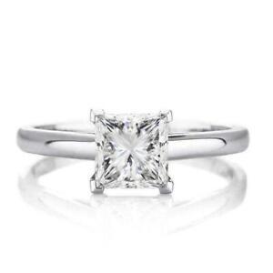 2 Karat Moissanit Ring 925 Sterling Silber Weiß Moissanit Verlobung