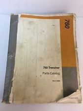 Case 760 Trencher Parts Catalog Manual