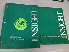 2000 2001 2002 2004 HONDA INSIGHT Service Shop Repair Workshop Manual Set W EW x