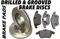 Front Drilled & Grooved Brake Discs & Pads BMW E46 330d 330i 330ci 325mm