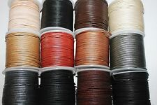 1.5mm - Genuine Leather * High Quality * 50 Meter/Spool. Many Colors