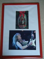 More details for iron maiden christmas card 2000 fauxsigned vintage + iron maiden photo image gem