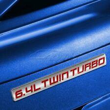 X1 METAL TRUNK BUMPER EMBLEM DECAL FENDER BADGE CHROME RED 6.4L 6.4 L TWIN TURBO