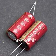 1PC Original ELNA 2200uF 16VCerafine ROA audio HiFi Capacitor RED #CUM