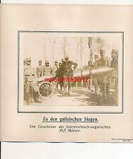 Foto, Geschosse der österreichisch ungarischen 35,5 Mörser, Galizien, (G)