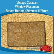 Caravan Window Fly Screen ROUND Bottom Vintage ( 450mm x 1175mm )  010259