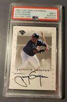 1996 Leaf Extended TONY GWYNN Autograph Baseball Card INSERT Auto Signed PSA 7