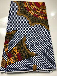 Exclusive African Ankara  print Fabrics. Blu ,Yellow Gold ,Red&Black.