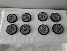 "Knex Wheels Lot 8 Small Tires 1.75"""