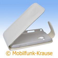 Flip Case Etui Handytasche Tasche Hülle f. Samsung GT-S7562 / S7562 (Weiß)