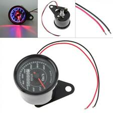 0-180 km/h 12V Motorcycle Stainless Steel Car Odometer Speedometer with LED Set
