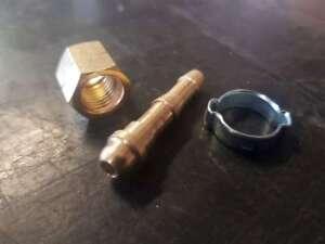 KIT della FRO raccordo Ossigeno 1/4 DX x tubo tubo 6 e 8 mm ATTREZZATURA FIAMMA