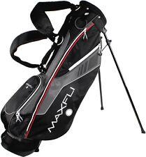 "New Maxfli Golf Sunday Stand Bag 7"" top cuff 3 way divider 3.4 lbs. Black Grey"