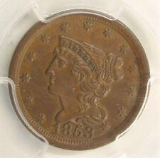 1853 Braided Hair 1/2c PCGS AU58 120H
