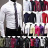 Luxury Mens Dress Shirt Long Sleeve Slim Fit Formal Business Wedding Shirts Tops