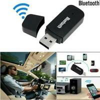 3.5mm AUX To USB Wireless Bluetooth Audio Stereo Car Music Receiver Adapter AU