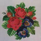 Roses & Pansies, CROSS STITCH PATTERN, Chart #EMS017, Ellen Maurer-Stroh, FLORAL