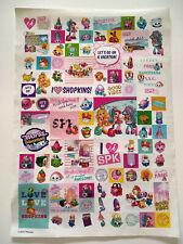 Shopkins sticker sheet, 90 stickers, unused