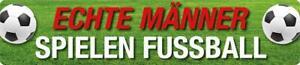 Magnet Blechschild Echte Männer spielen Fussballl Schild Wanddeko Kinderzimmer