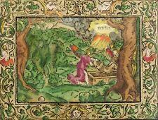Monogrammist MT-Deux anges enterré Moïse-Gravure couleur 1560-1580
