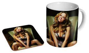 Mariah Carey Beautiful - Coffee / Tea Mug And Coaster Gift Set