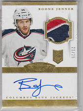 13-14 Dominion Rookie Patch Autograph Boone Jenner Gold Parallel SP #206 21/25