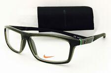 New Nike Eyeglasses 7075 082 Crystal Cargo Khaki 55•13•140 With Case