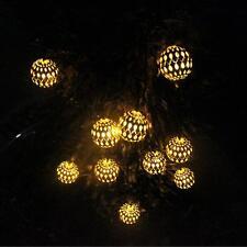 2020 Outdoor String Lights Moroccan Solar Powered Globe Lantern Lighting