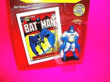 Ertl BATMAN Die-Cast Metal Action Figure w Mini DC COMIC BOOK Super Hero