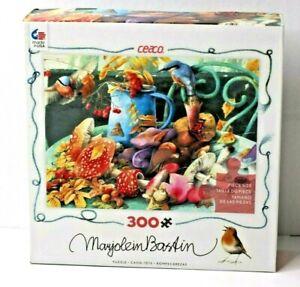 Ceaco Marjolein Bastin Jigsaw Puzzle Fall's Bounty Birds Mushrooms 300 Pc NOS